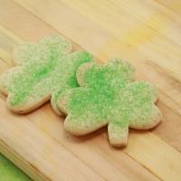 Green Sprinkled Cookies