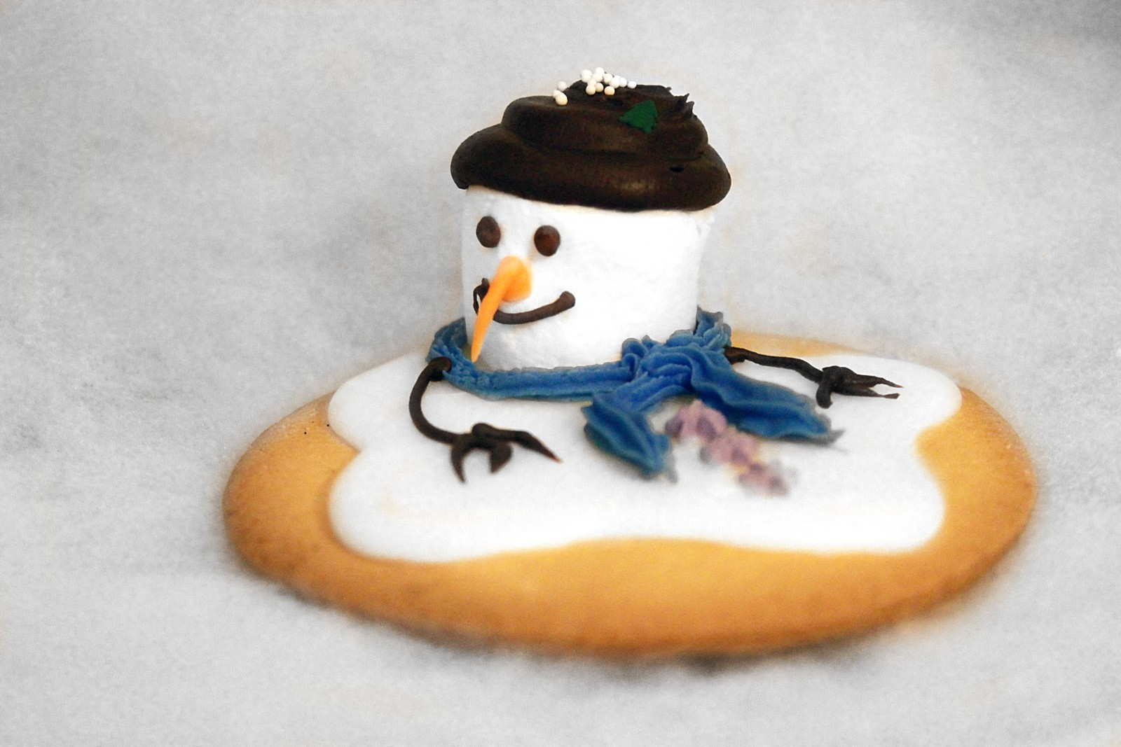 Melting Snowman Sugar Cookie
