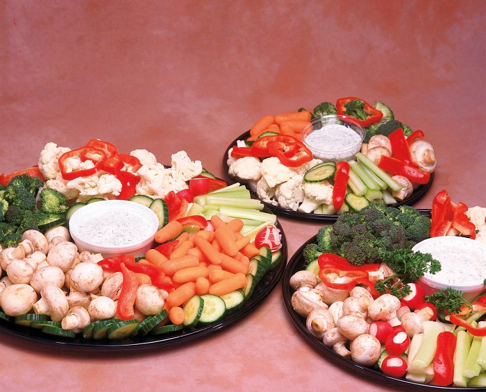 3 sizes of Veggie Trays